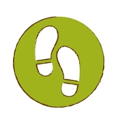 Foot steps icon image vector