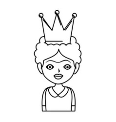 Frida kahlo with crown vector