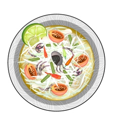 Green Papaya Salad with Fermented Salted Crabs vector