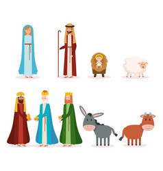 Group of manger characters vector