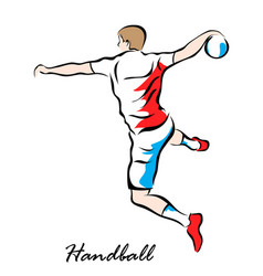 handball vector image