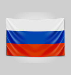 hanging flag russia russian federation vector image