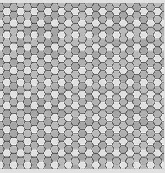 Hexagon pattern seamless gray and black vector