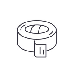 insulating tape line icon concept insulating tape vector image