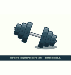 iron dumbbell icon game equipment professional vector image