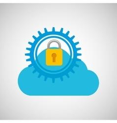 lock security icon vector image