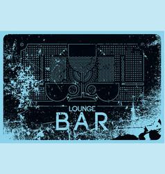 Lounge bar menu grunge geometric pattern design vector
