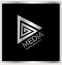 media spiral play logo vector image