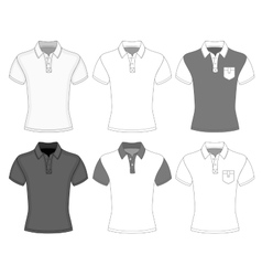 Mens short sleeve polo shirt vector image