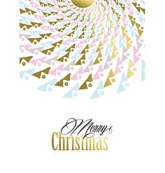 Merry christmas gold tribal mandala vector