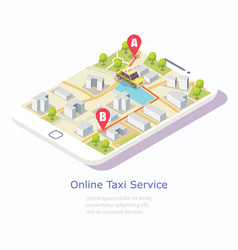 online taxi service web banner template vector image