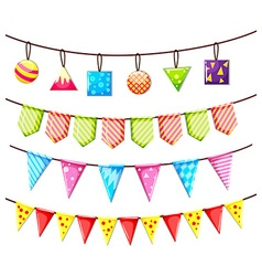 Party flags and other ornaments vector