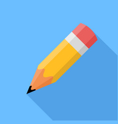 Pencil flat design icon vector