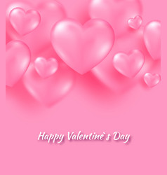 pink valentine s day background with tender 3d vector image