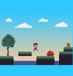 pixel art scene vector image