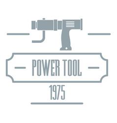 Power tool logo simple gray style vector