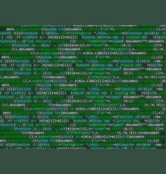 Program code shimmering colorful background vector