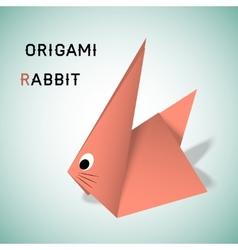 Rabbit origami vector image
