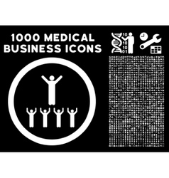 Religion Adepts Rounded Icon With Medical Bonus vector