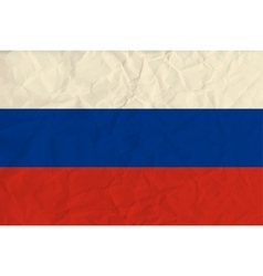 Russia paper flag vector image