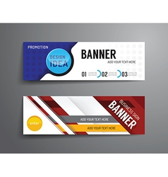 set of banner template design graphic or website vector image