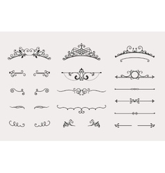 Set of headers and border elements vector