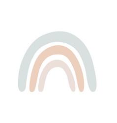 Simple cartoon rainbow isolated on white baby vector