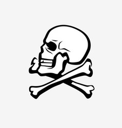 skull and crossbones symbol pirate jolly roger vector image