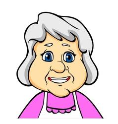 Smiling senior woman vector