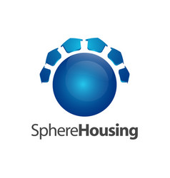 sphere housing logo concept design symbol graphic vector image