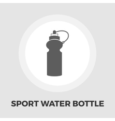 Sports water bottle icon flat vector image