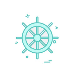 steering icon design vector image