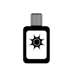 Sun bronze bottle vector