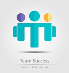 Team success business icon vector