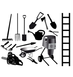 Tools for the gardener vector