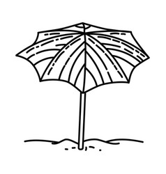 umbrella nice icon doodle hand drawn or outline vector image