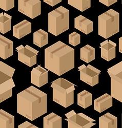 Cardboard box seamless pattern Paper packaging vector image