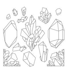 Graphic pastel crystals vector