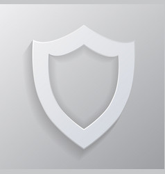 icon shield with realistic shadows vector image vector image