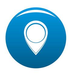 Navigation mark icon blue vector