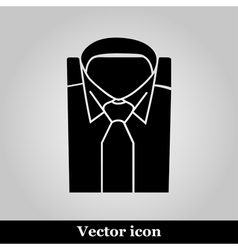 Shirt and tie icon suit men formal business logo vector image vector image