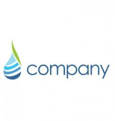 spa logo leaf water drop vector image vector image