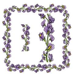 Flower frame 2 380 vector