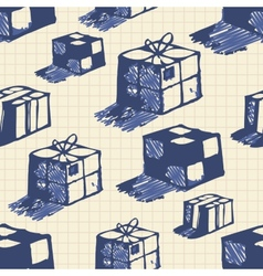 Hand drawn boxes vector image vector image