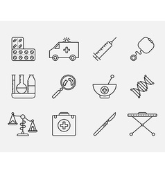 Icon Set of Medical styled signs symbols vector image vector image