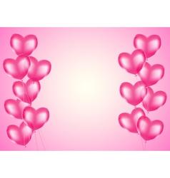 pink heart balloons vector image vector image