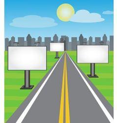 road boards vector image