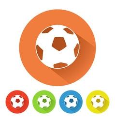 Soccer ball symbol vector image vector image