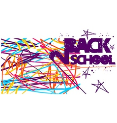 Back to school colorful background vector image vector image