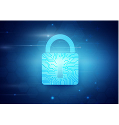abstract internet security and technology concept vector image